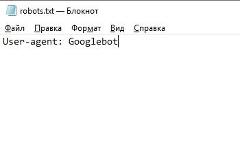 Директива User Agent для Google